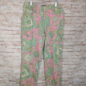 LRL Ralph Lauren Pink Paisley Pants